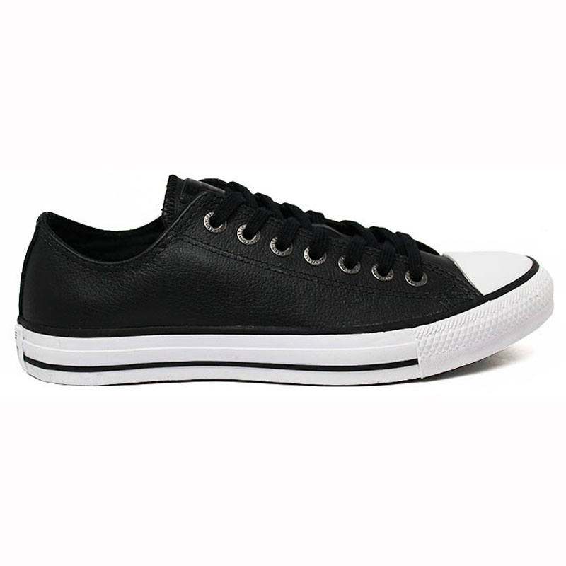 ALL STAR LEATHER OX PRETO