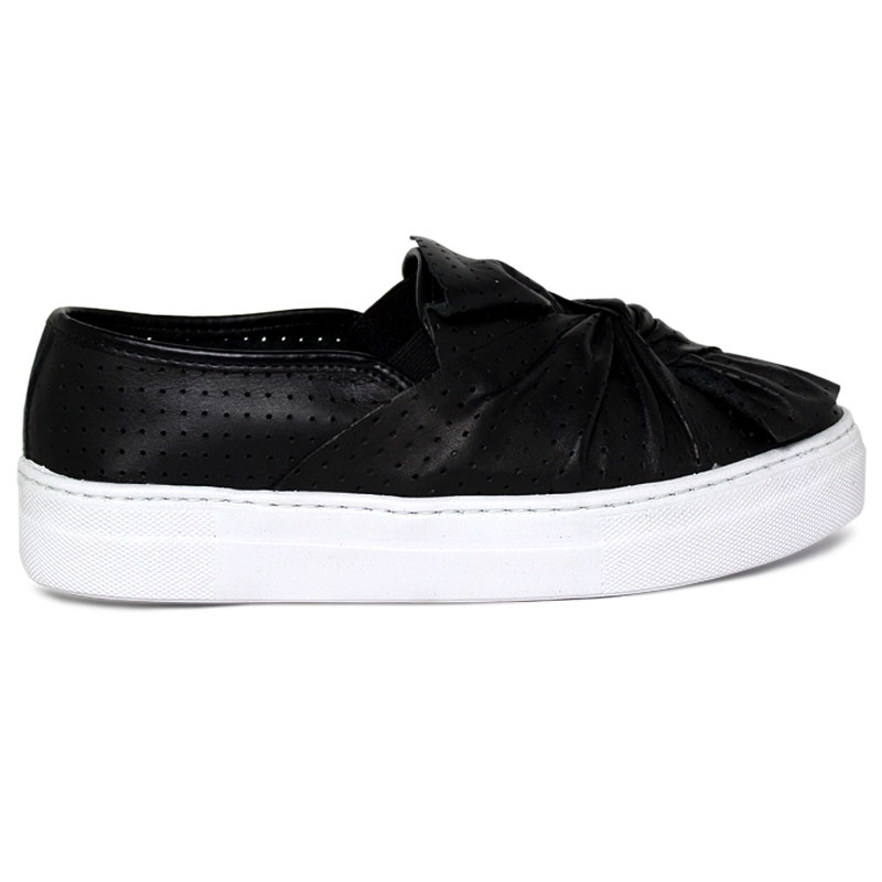 **SLIP ON LAÇO MULTIPONTOS PRETO