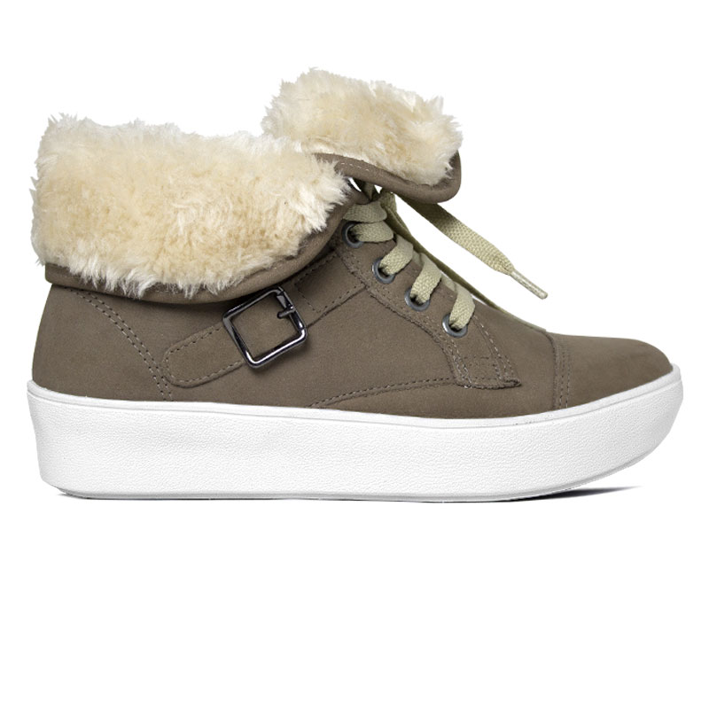 *WINTER BOOT CONVEXO NOBUCK COM PELE FENDI