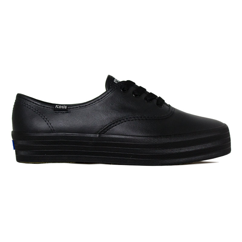 *KEDS TRIPLE LEATHER PRETO/PRETO