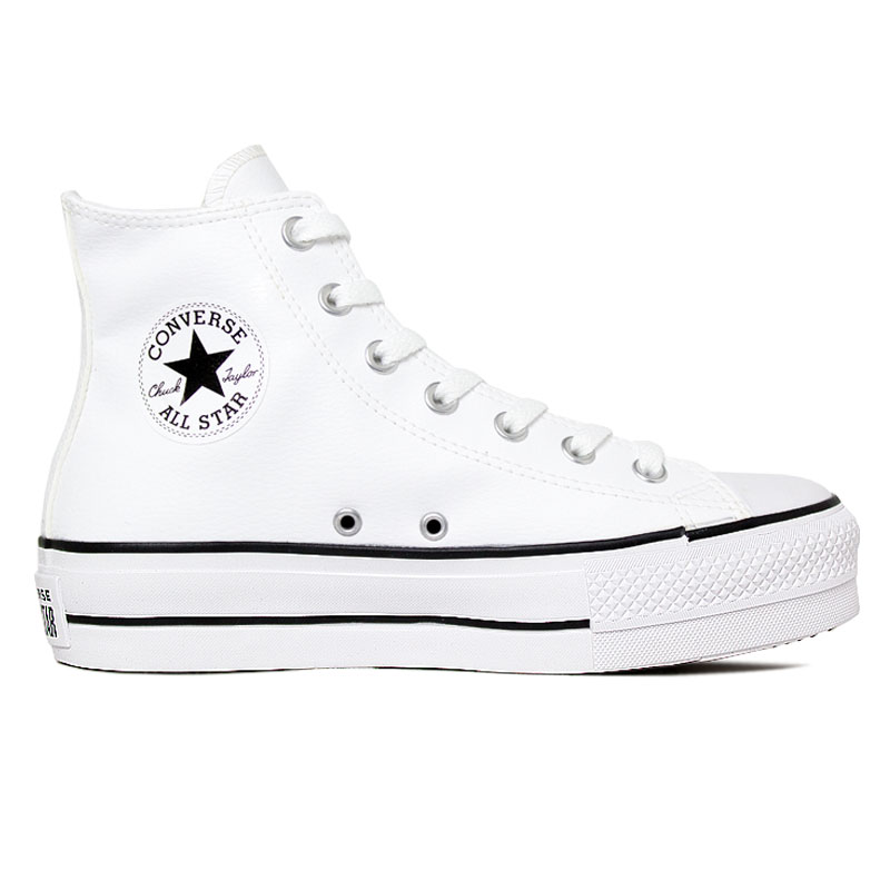ALL STAR PLATAFORMA ECO LEATHER HI BRANCO