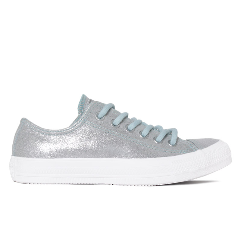 ALL STAR OLD LEATHER CHUCK OX PRATA/AZUL BB