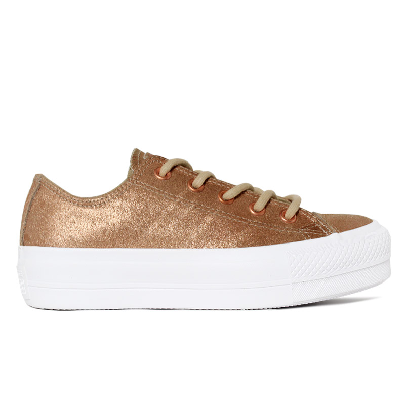 ALL STAR PLATAFORMA OLD LEATHER COBRE