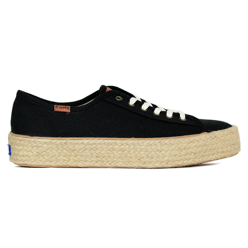 *KEDS TRIPLE KICK CANVAS JUTE PRETO