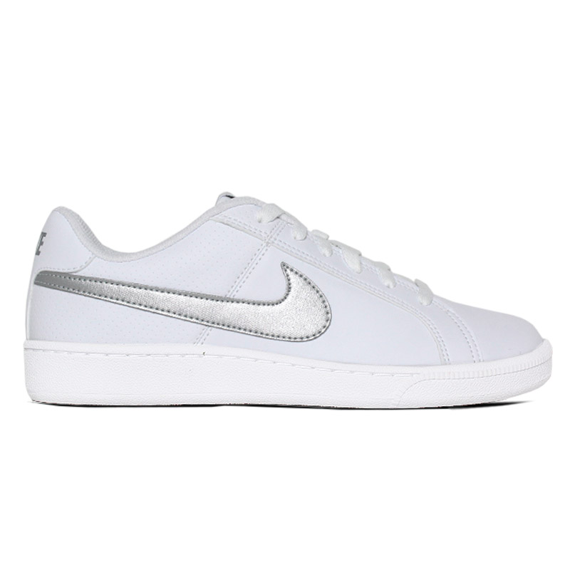 NIKE COURT ROYALE WHITE METALIC SILVER