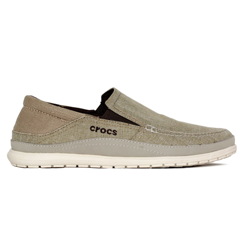 CROCS SANTA CRUZ PLAYA SLIP ON KHAKI/STUCCO