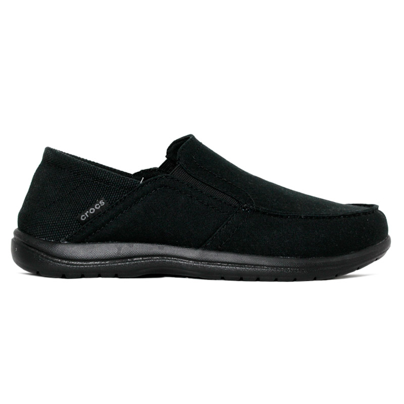 CROCS SANTA CRUZ CONVERTIBLE SLIP ON BLACK
