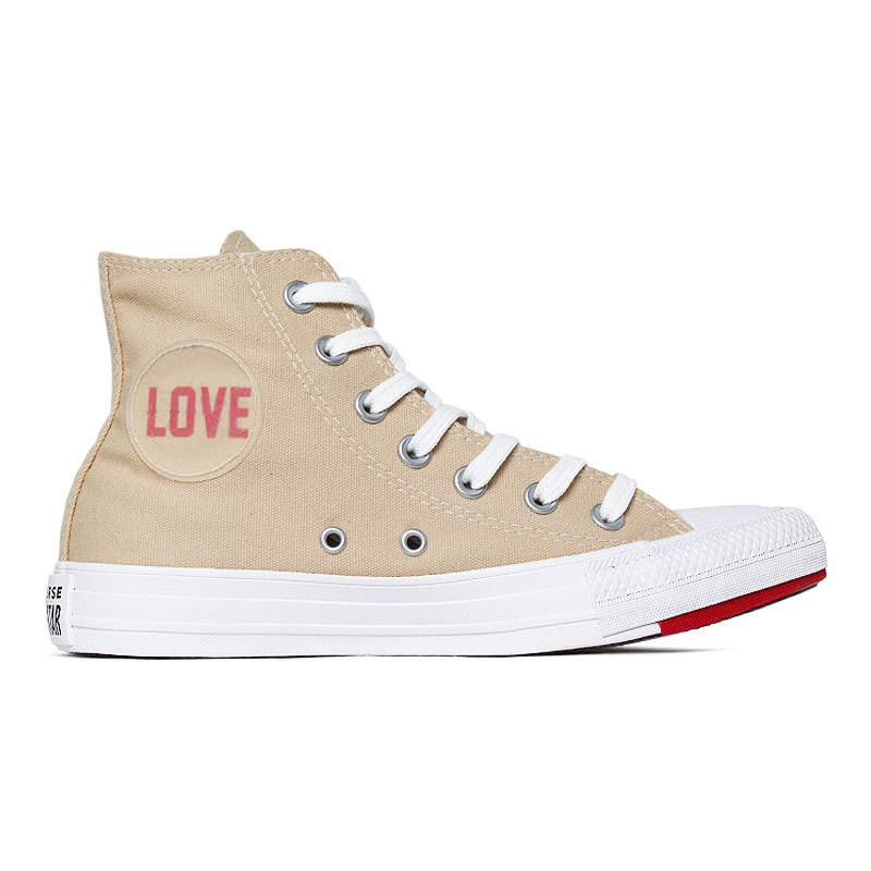 ALL STAR CHUCK TAYLOR LOVE HI BEGE/VERM/BCO