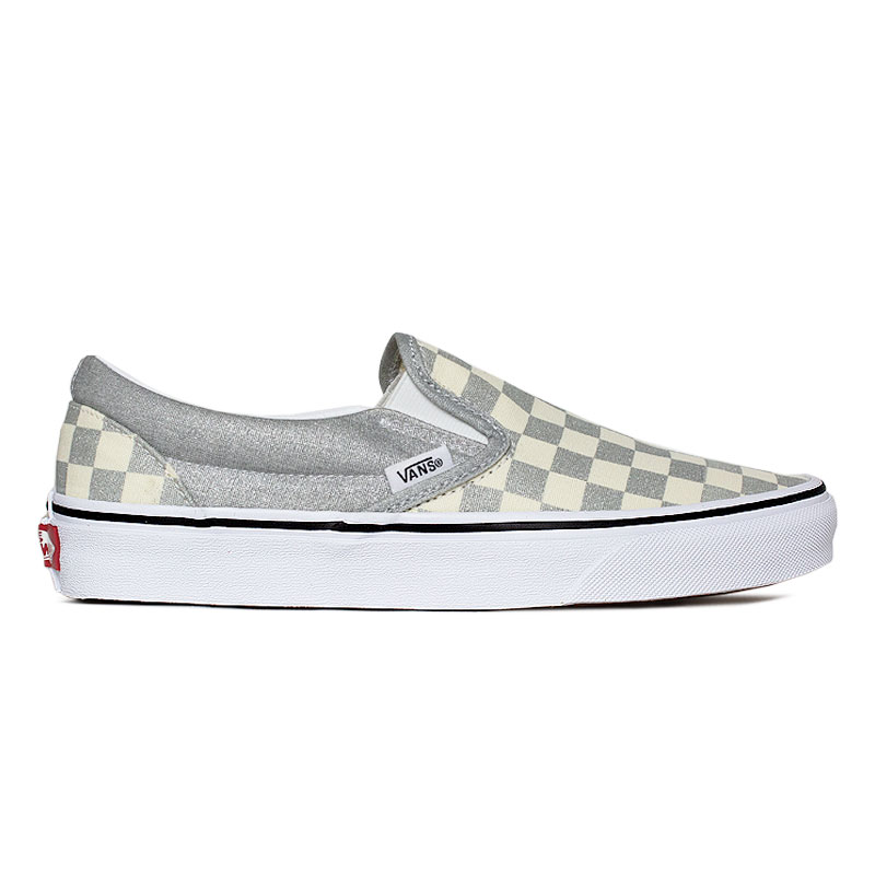 TENIS VANS CLASSIC SLIP ON SILVER/TRUE WHITE