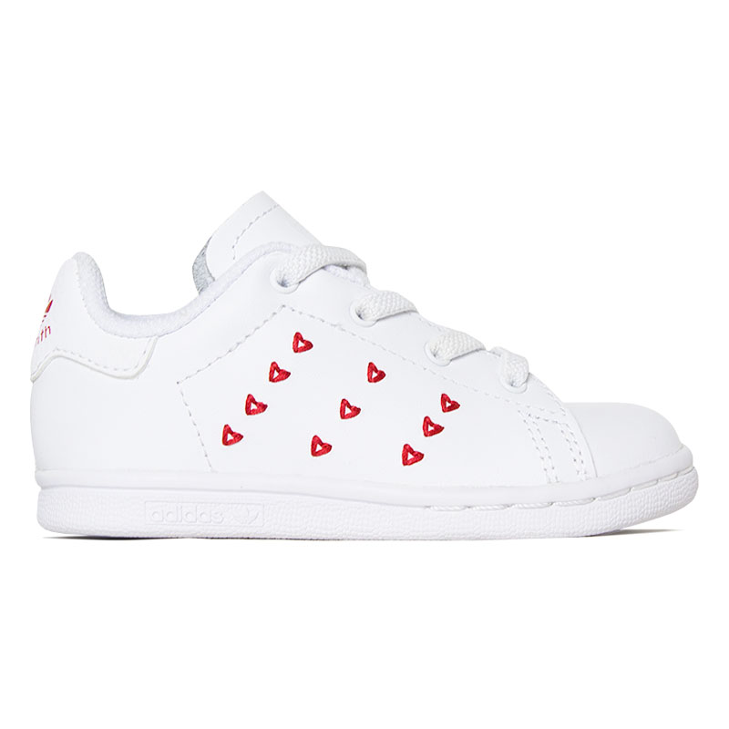 TENIS STAN SMITH HEARTS BABY WHITE-RED