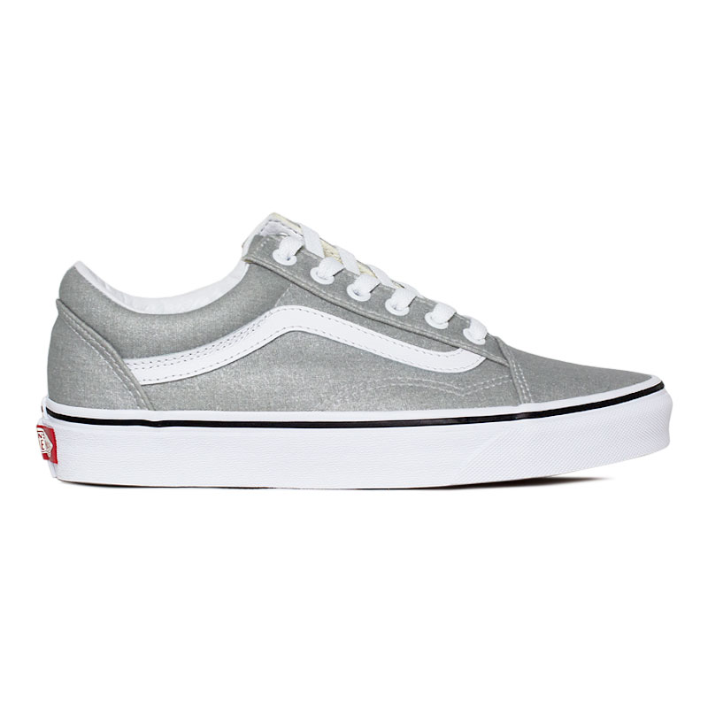 TÊNIS VANS OLD SKOOL SILVER/TRUE WHITE