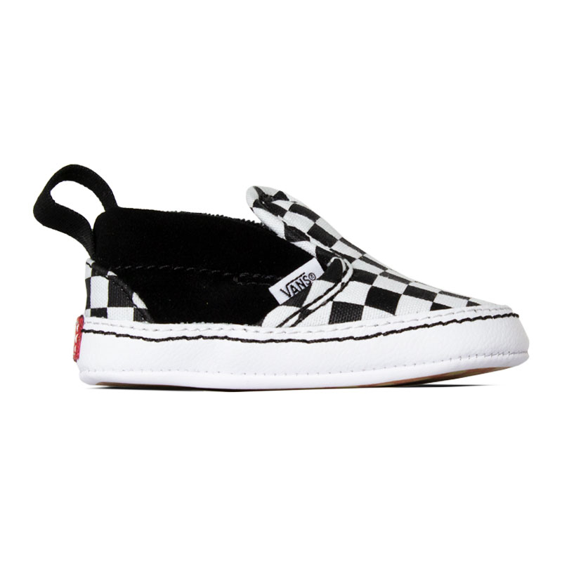 TÊNIS VANS SLIP ON CRIB BLACK/TRUE WHITE