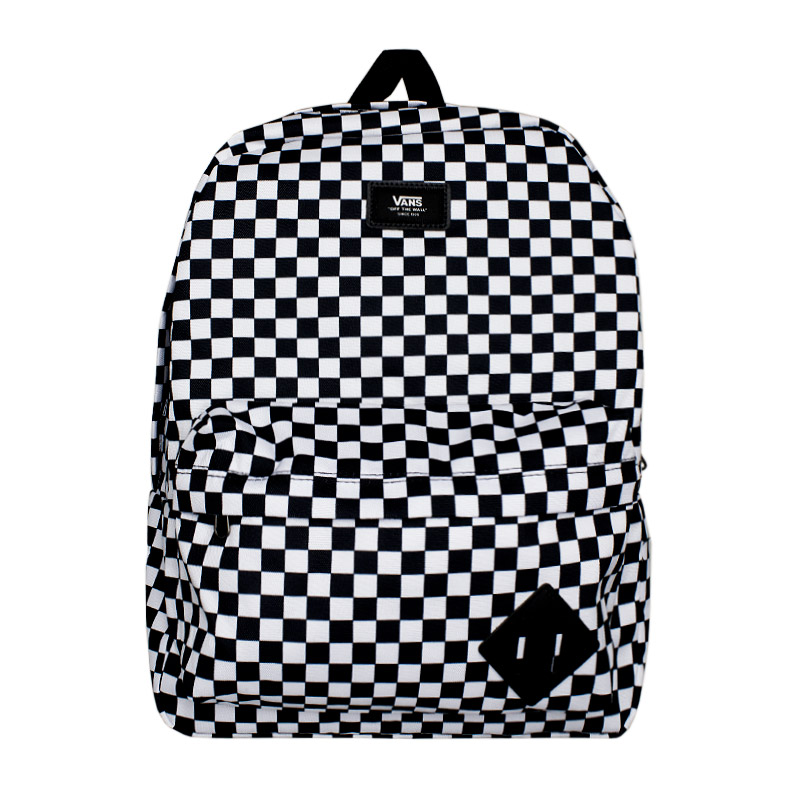 MOCHILA OLD SKOOL BLACK WHITE CHECK QUADRICULADA