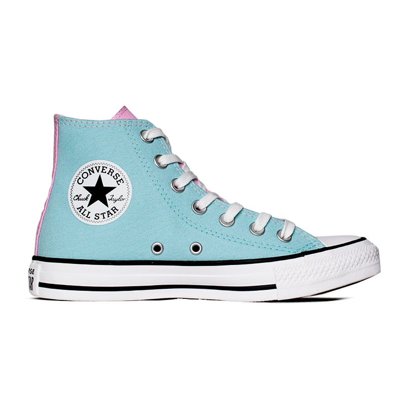 ALL STAR 3 COLORS HI AZUL BEBE/LILAS
