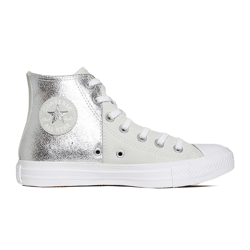 ALL STAR DUO TEXTURE HI BRANCO/PRATA