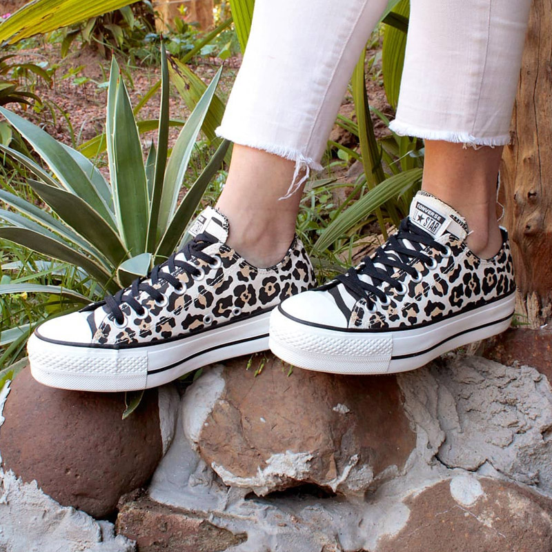 ALL STAR PLATAFORMA ANIMAL PRINT