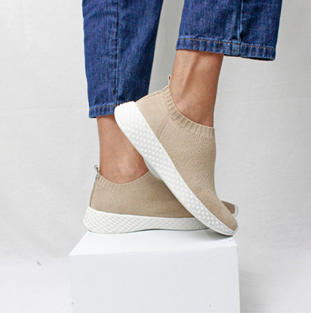 SLIP ON SOLA ESCAMA - KNIT NUDE