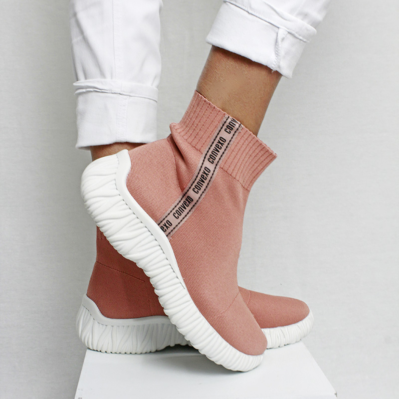 SOCK BOOT KNIT ROSE
