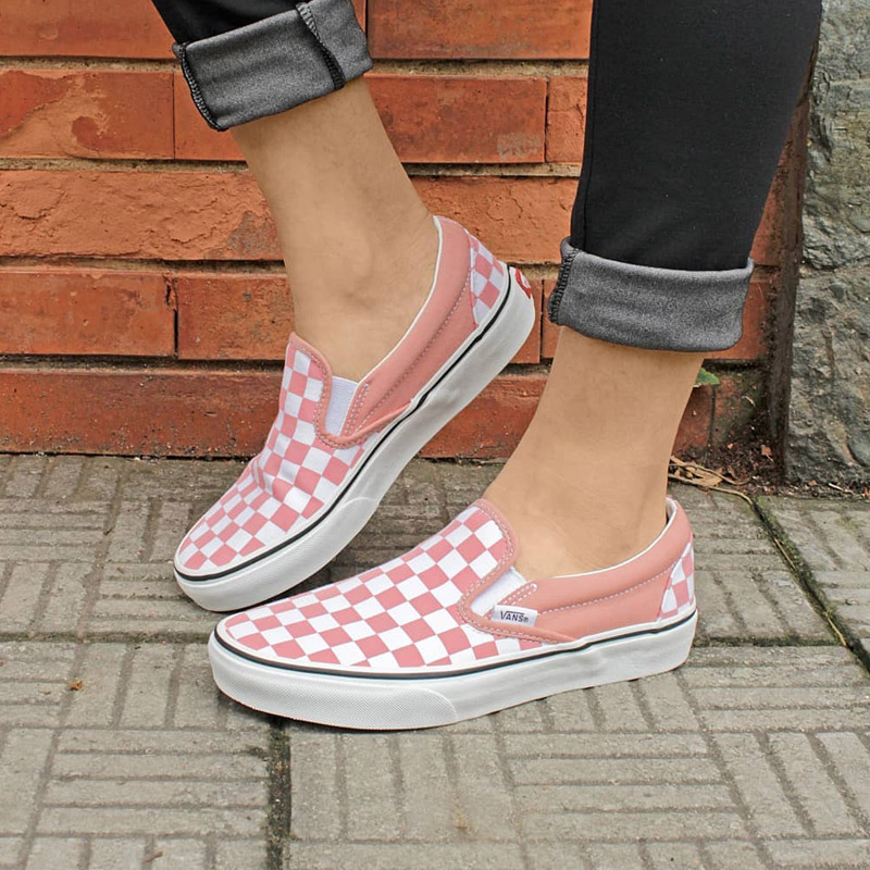 TENIS VANS CHECKERBOARD ROSE DAWN