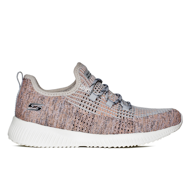 SKECHERS BOBS SQUAD CITY HEITGHTZ CINZA/PINK