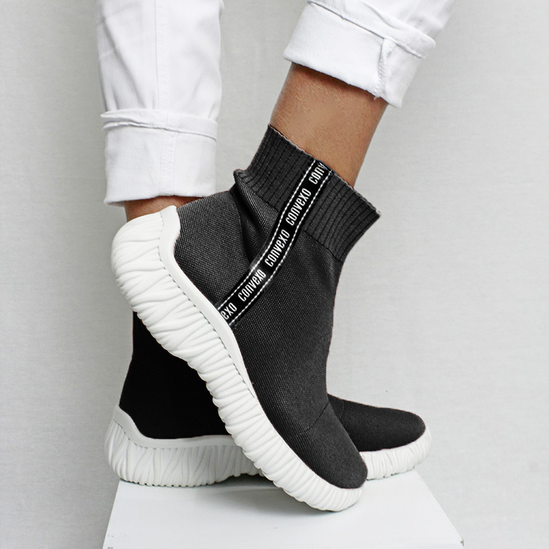 SOCK BOOT KNIT PRETO