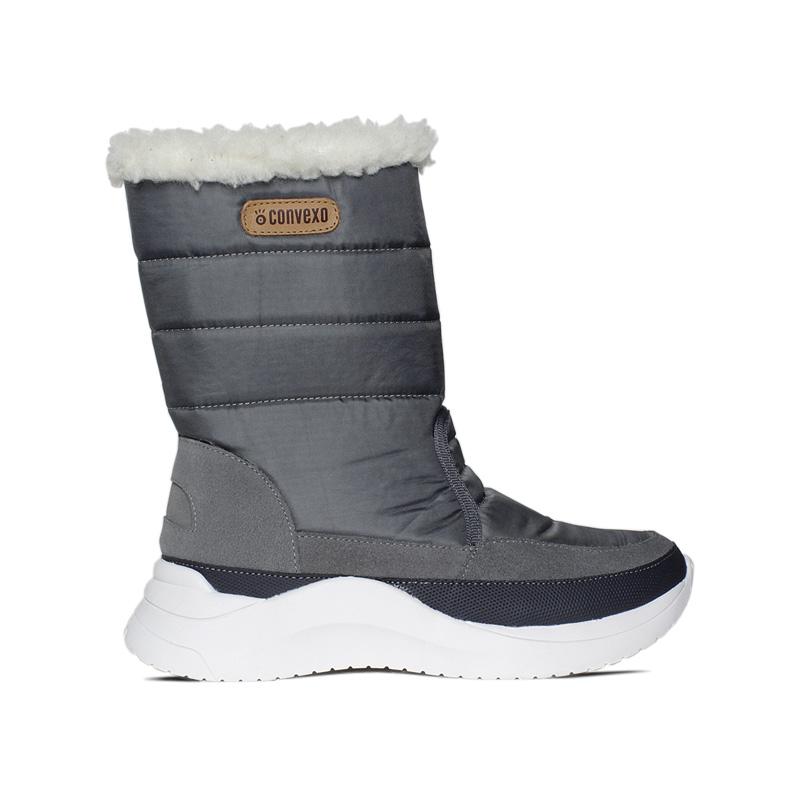 SNOW PUFF BOOT NYLON CINZA