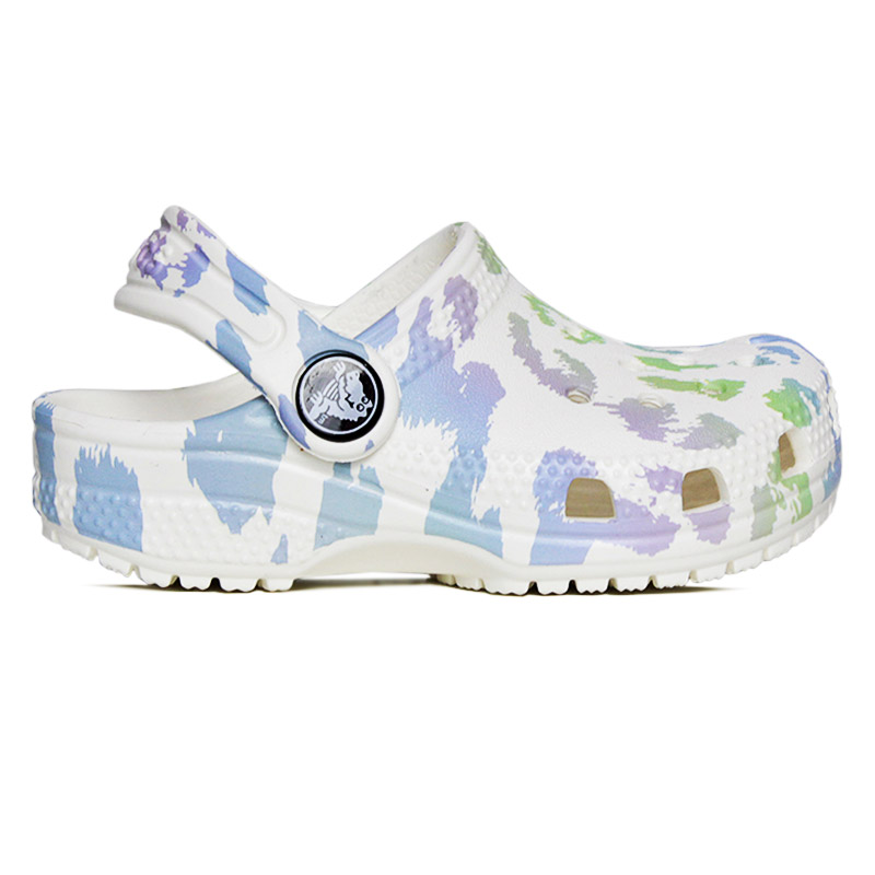 CROCS CLASSIC OUT OF THIS WORLD WHITE LEOPARD
