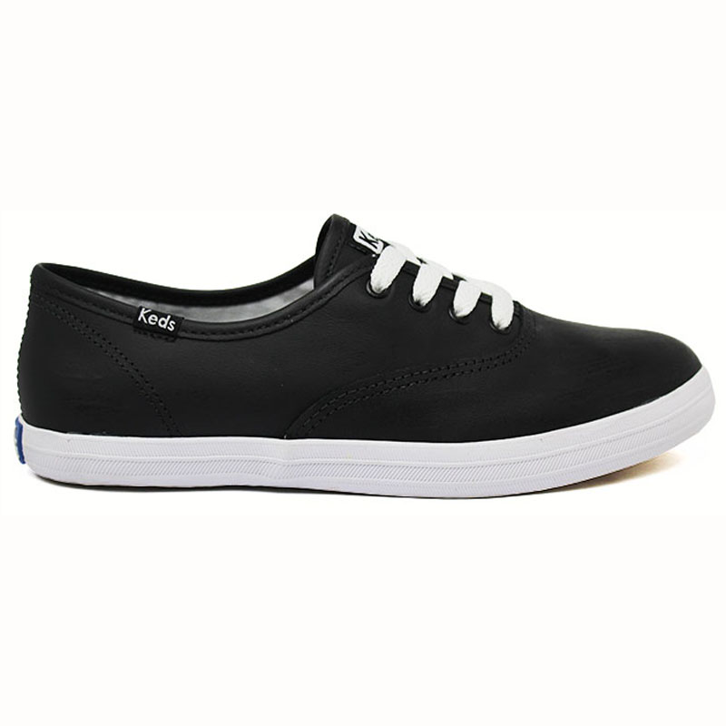*KEDS CHAMPION WOMAN LEATHER PRETO/BRANCO