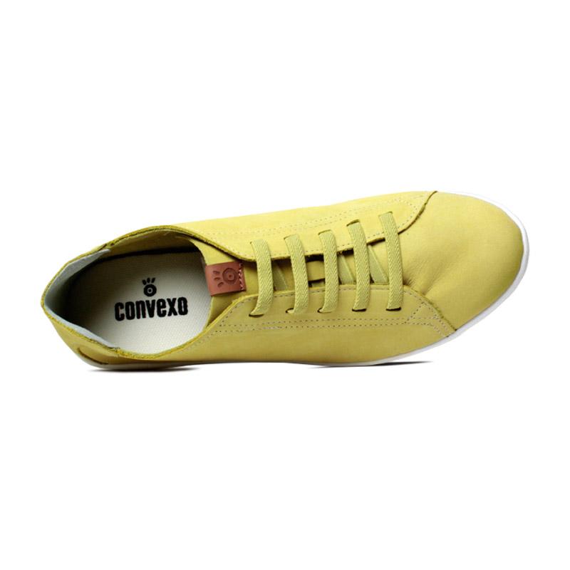 Tenis convexo flat nobuck amarelo 2