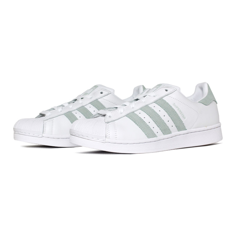 Tenis adidas superstar branco verde 1