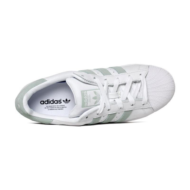 Tenis adidas superstar branco verde 2