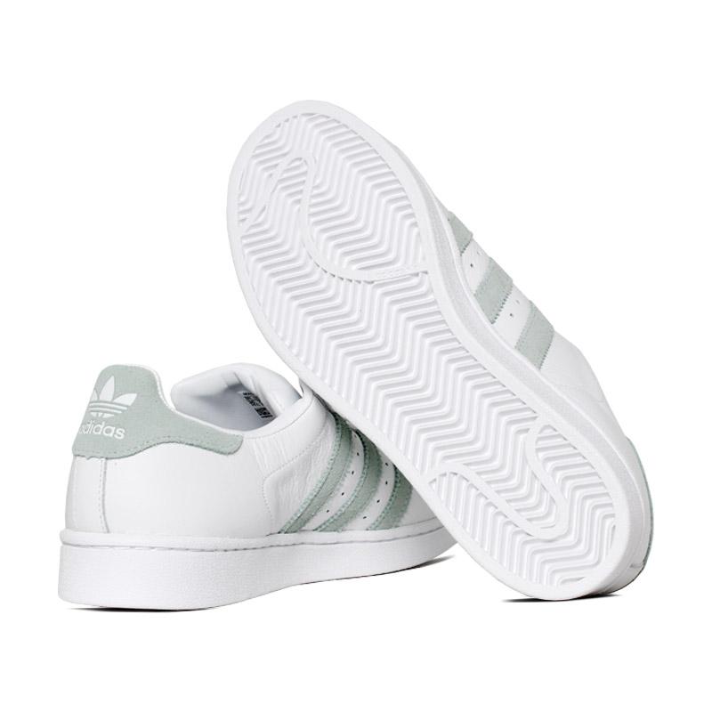 Tenis adidas superstar branco verde 3