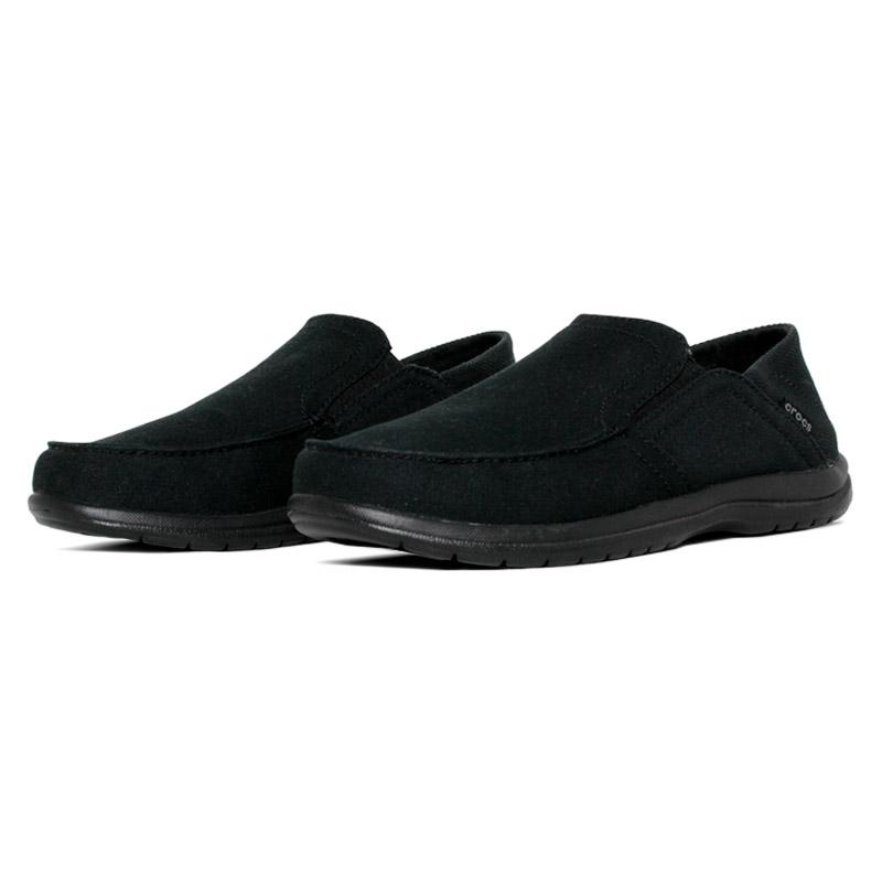 Crocs santa cruz convertible slip on black 1