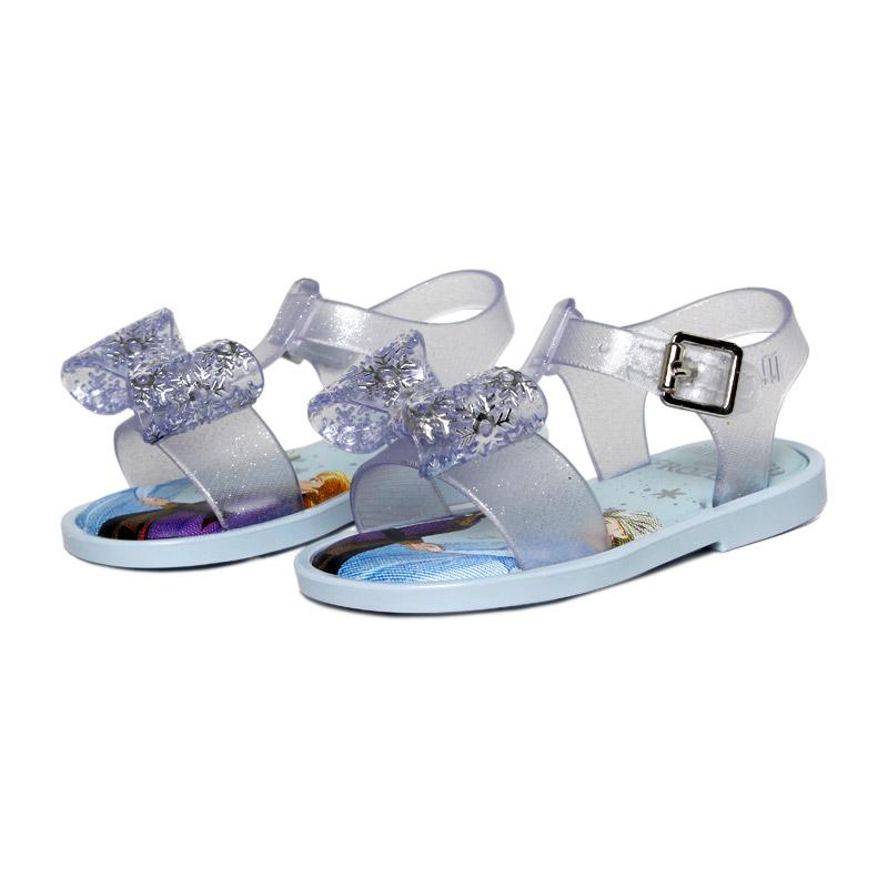 Mini melissa mar sandal frozen azul 1