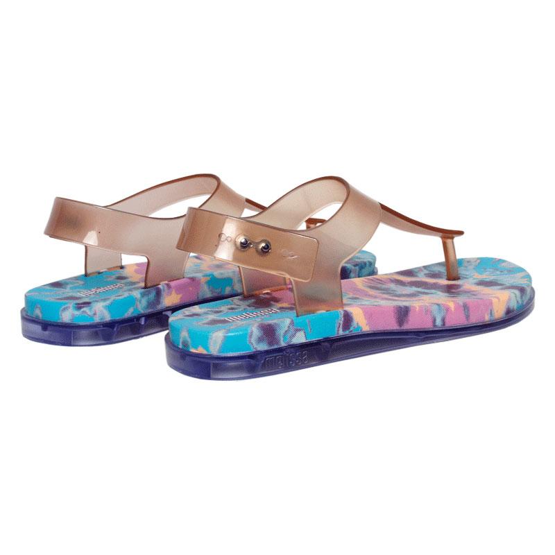 Melissa hera sandal vidro rosa azul 2