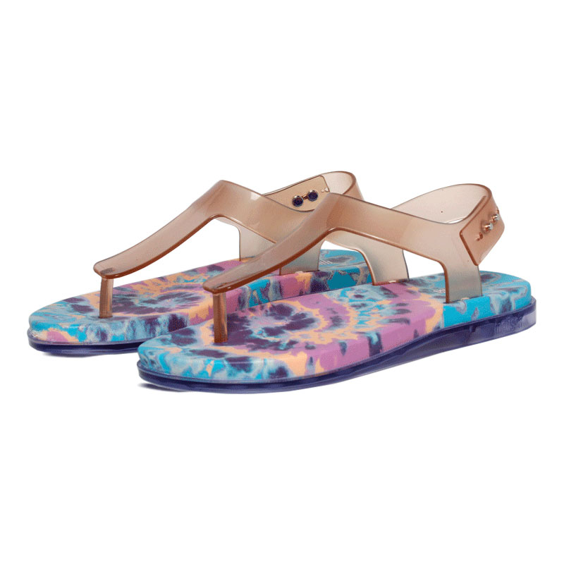 Melissa hera sandal vidro rosa azul 3