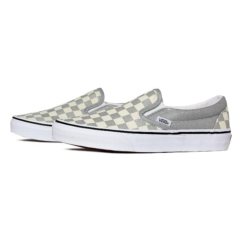 Tenis vans classic slip on silver true white 1