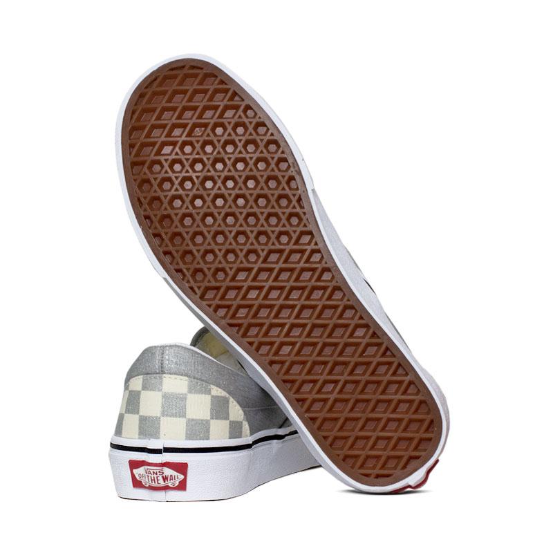 Tenis vans classic slip on silver true white 2
