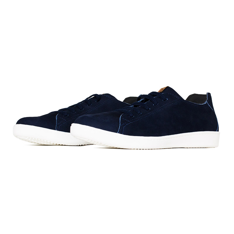 Tenis convexo flat nobuck dark blue 1