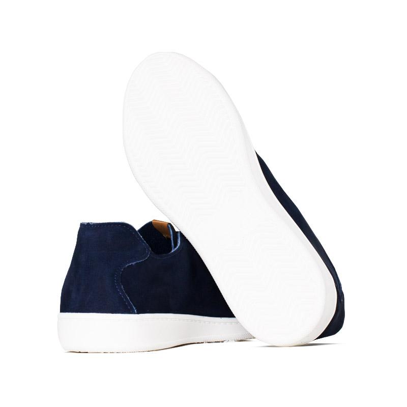 Tenis convexo flat nobuck dark blue 2