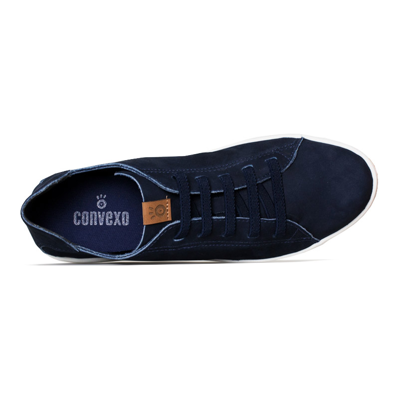 Tenis convexo flat nobuck dark blue 3