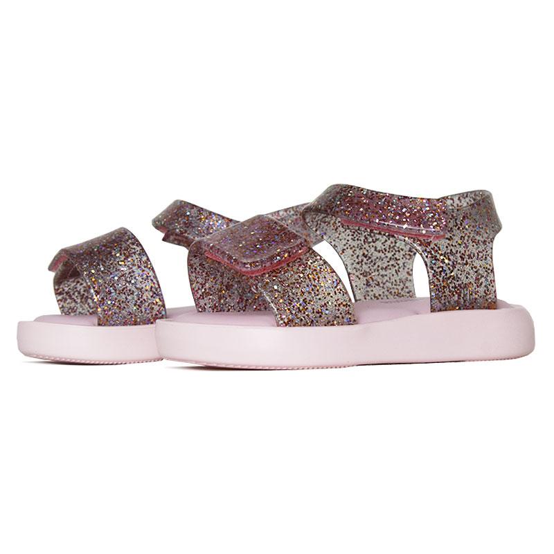 Mini melissa jump rosa vidro glitter 2