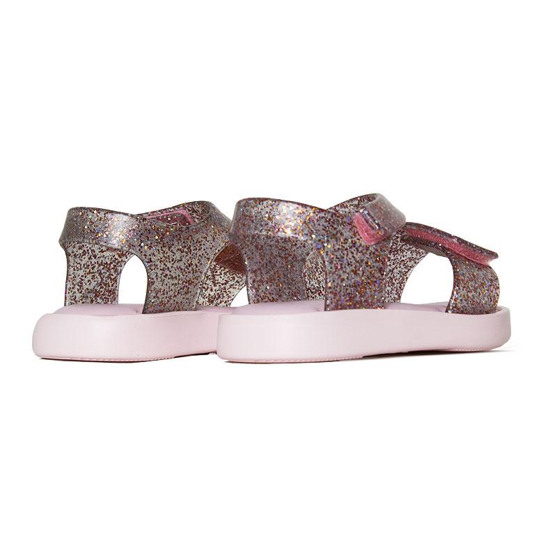 Mini melissa jump rosa vidro glitter 3