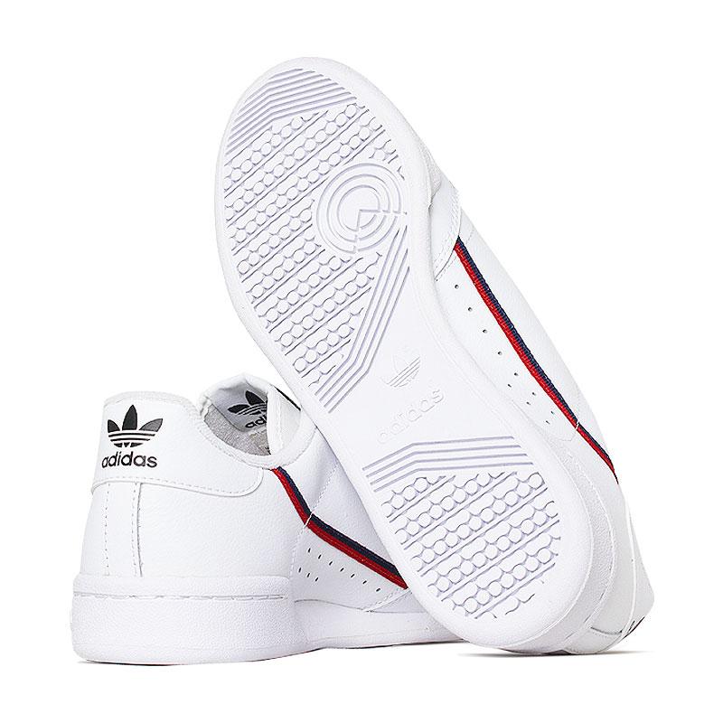 Tenis adidas continental j white scarlet navy 1