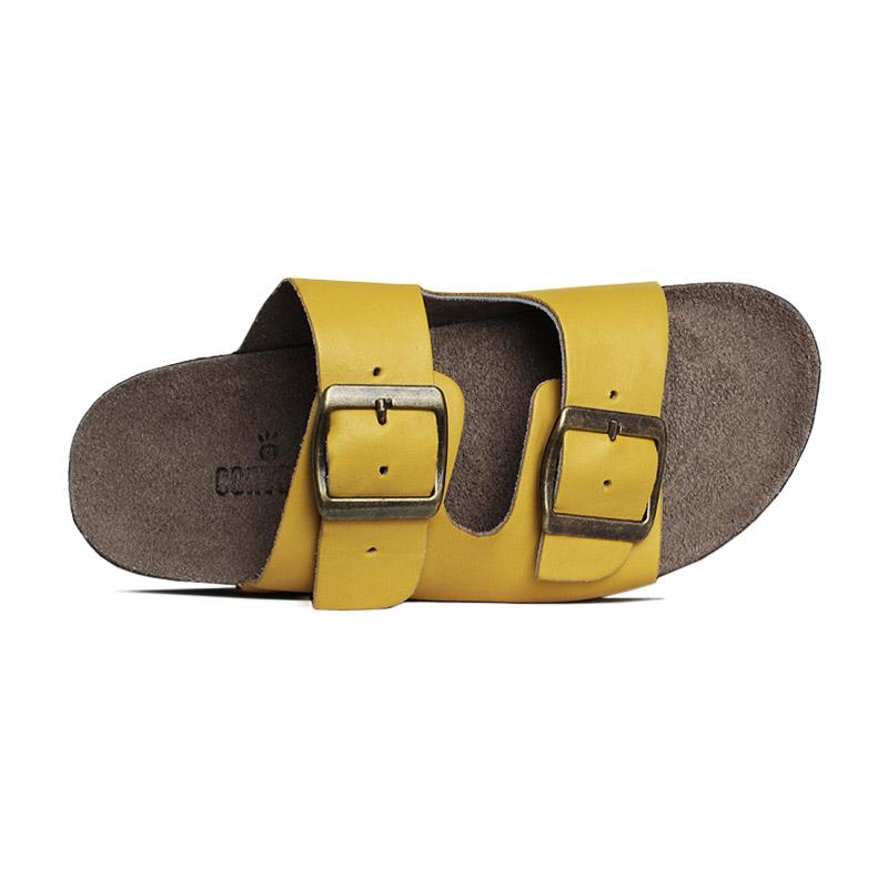Sandalia birken 2 tiras smothie narciso amarelo 3