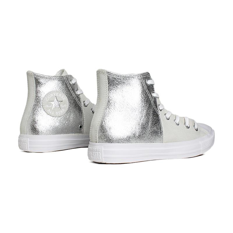 All star duo texture hi branco prata 1