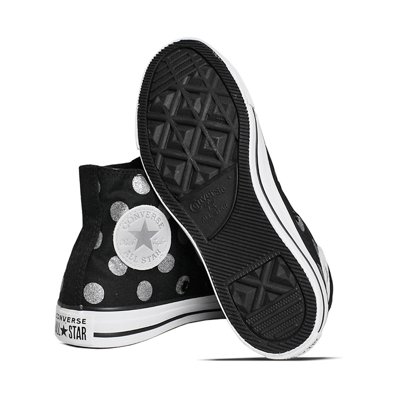 All star glitter dots hi preto prata 3
