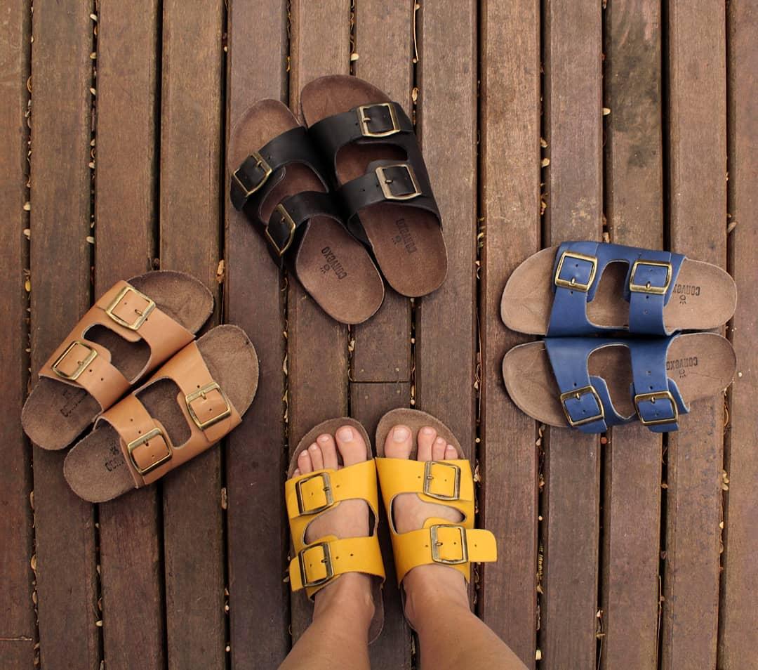 Sandalia birken 2 tiras amarelo narciso 4