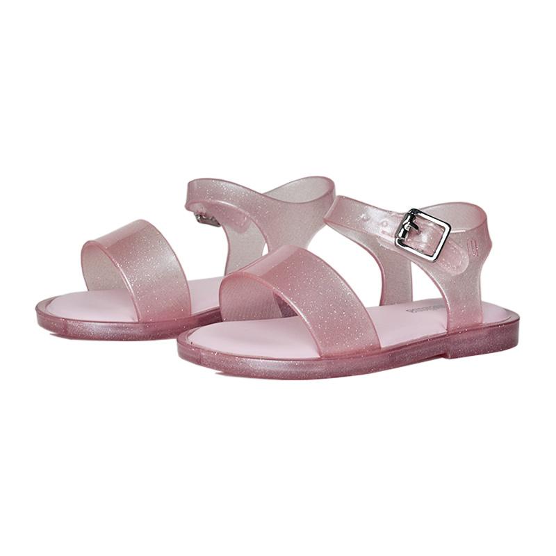 Mini mel mar sandal iv rosa perolado 2