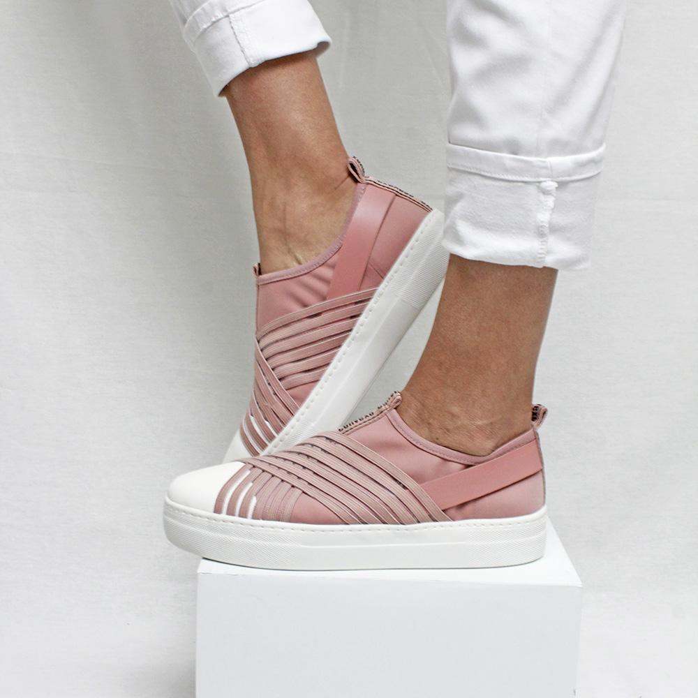 Slipon convexo elastico x vazado rose 1